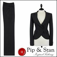 NEXT UK10 US6 GREY TROUSER SUIT BUSINESS WOMEN LADIES SIZE PIP AND STAN