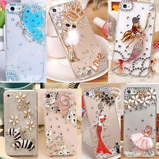Bling DIY lover butterfly Clear Crystal 3d Hard Back Case Skin Cover for Samsung