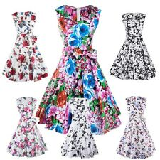 Vintage 50s 60s Women Party Foral Retro Pinup Party Prom Swing Housewife Dresses