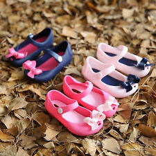 Baby Kids Girls Children Toddler Sandal Bowknot Jelly Shoes Size UK 4.5-7 Infant