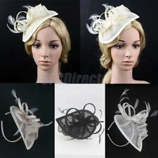 Retro Feather Fascinator Hat on Headband Wedding Party 1920s Gatsby Hairdress