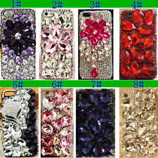 S! Luxury Crystal Rigid Bling Rhinestone Plastic Hard Case Cover For Cell Phones