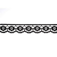 Essential Trimmings ET424 | Rayon Embroidered Lace Tulle 25mm x 25m