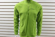 Men's Marmot 100 Wt Rocklin 1/2 Zip Green Lichen 83590 Brand New With Tag