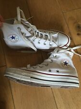 Children's / Ladies Boys Girls White Red Converse High Tops Size 3