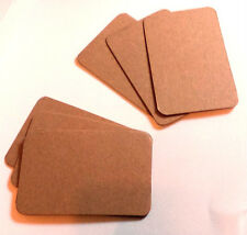 Natural Brown Kraft Blanks, Round Cornered Business Card Blanks, Save The Date