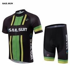 SAIL SUN Mens Mountain Bike Cycling Jersey Bib Shorts Sets T-Shirt Bike Clothing