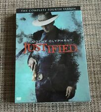 Justified: The Complete Fourth 4th Season (DVD, 2013, 3-Disc Set)