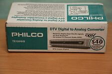 Philco TB100HH9 DTV Digital to Analog TV Converter Tuner with Remote New