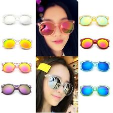 1x Summer Vintage Retro Clear Round Frame 2016 Ladies Women Sunglasses Gradient