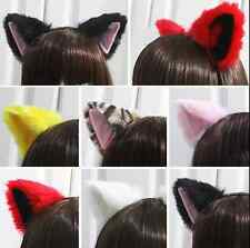 Hot Cosplay Party Cat Fox Fur Ears Costume Woman Sexy Cute Hair Headband