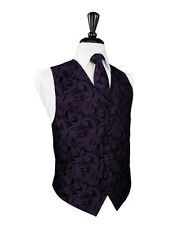 New Mens Berry Tapestry Tuxedo Vest Bow Tie Set Formal Wedding Prom All Size