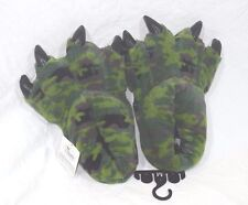 Wishpets Green Camo Slippers Dinosaur Claw for Big Kids Men Women Med or Large