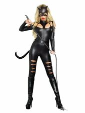 Sexy Feline Cat Fight Cat Woman Catwoman Catsuit Adult Costume