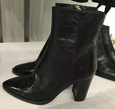 ZARA LEATHER HIGH HEEL ANKLE BOOTS 35-41 REF. 6100/101
