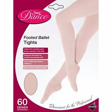 CHILDRENS SILKY FULL FOOT BALLET DANCE TIGHTS IN PINK - AGES 3-13