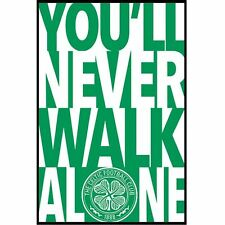 Celtic FC Poster YNWA 14 Football Soccer SPL Wall Picture