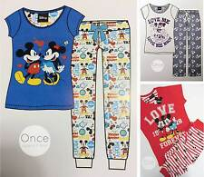 PRIMARK Disney MICKEY & MINNIE MOUSE Pyjamas Lounge Pants & T Shirt PJ SET