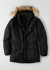 AEO American Eagle Outfitters Men Hooded Down Parka Jacket Black XS-L NWT