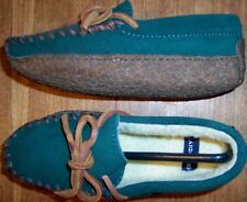 Mocassin Slippers Suede Green Lands End Winter Boy size Choice 10 11 New