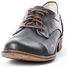 Mustang Brogue Ladies Pu Womens Brogues Anthracite New Shoes