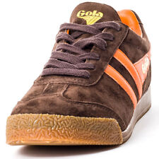 Gola Harrier Unisex Trainers Brown Orange New Shoes