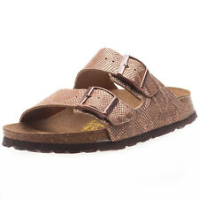 Birkenstock Arizona Royal Phyton Womens Sandals Brown New Shoes