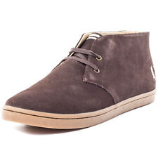 Fred Perry Byron Mid Mens Chukka Boots Dark Chocolate New Shoes