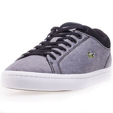 Lacoste Straightset Spt 1163 Mens Trainers Black New Shoes