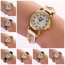 Fashion Womens Ladies Watches Analog Leather Strap Quartz Wrist Watch