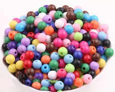 Lots 50/100pcs Mixed Acrylic Round Loose Spacer Beads Charms Jewelry Making DIY