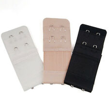 3Pcs Bra Extenders Strap Extension Adjustable Replacement Buckle 2 Hooks  MO