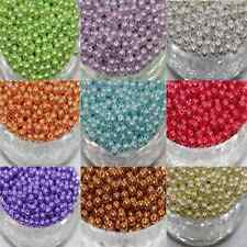 100Pcs Wholesale Multicolor Glass Pearl Charm Round Loose Round Beads Making DIY
