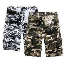 Fashion Summer Mens Casual Army Cargo Shorts Combat Camo Camouflage Sports Pants