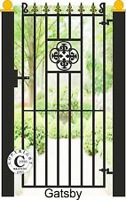 "Wrought Iron Steel Metal Side Gate - ""Gatsby"" 6ft Tall Gate"