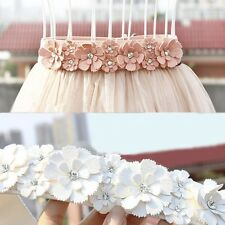 Fashion Women Double Rose Flower Buckle Elastic Wide Waist Corset Belt Band