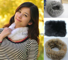 Women Real Rex Rabbit Fur Scarf Shawl Neck Collar Winter Scarf Wrap Winter 4 Cls