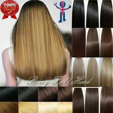 Deluxe Standard Full Head 8pcs Clip in 100%Remy Human Hair Extensions 120G+ U394