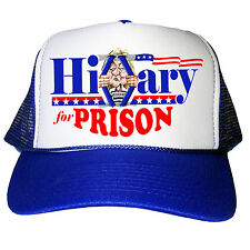 HILLARY CLINTON FOR PRISON HAT HILARIOUS PRESIDENT CAP DONALD TRUMP TRUCKER CAP