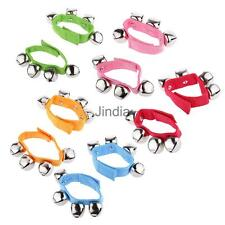 1 Pair Wrist Ankle Bells Jingles Rhythm Instrument Toys for Baby Kids