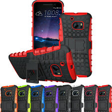Hybrid Rugged Hard Protective Case Stand Slim Shockproof Rubber Cover For HTC 10