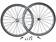 38mm Clincher Carbon Wheelset UD Matt 700C Road Bike Front Rear 10/11s Novatec