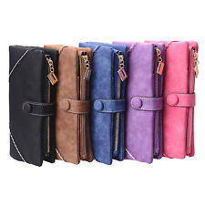 Women Ladies Long Clutch Wallet Card Phone Holder Handbag Bag PU Leather New