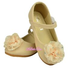 Ivory Rhinestones Rosette Mary Jane Shoes Pageant Party US 8.5-12.5 EU 24-30 019