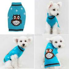 Small Pet Dog Puppy Cat Warm Sweater Clothes Knit Coat Winter Apparel Outwear