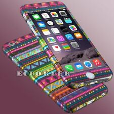 Hard Ultra thin 360° Case + Tempered Glass skin Cover For Apple iphone 5 6 6s