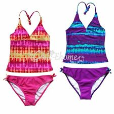 Girls Toddler Minnie Mouse Swimwear Tankini Bikini Set Swim Bathing Suit SZ 2-16