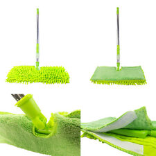 NEW Double Sided Microfibre Mop Cleaner Sweeper Wooden Floor / Cloth Pad Refill