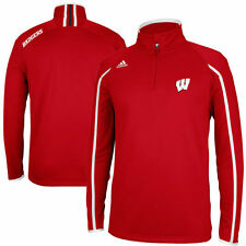 Wisconsin Badgers Adidas Sideline Coaches 1/4 Zip Climalite Men's Jacket