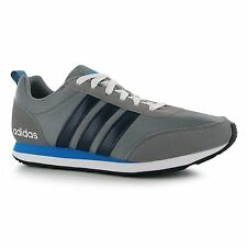 Adidas V Run VS Trainers Mens Grey/Navy/Blue Casual Sneakers Shoes Footwear
